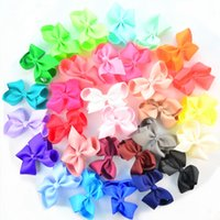 Wholesale Dresses Occasional - 4.5 Inch Jojo Bows For Babies Handmade Solid Color Bows DIY Hair Accessories Halloween and Occasional Dressing Up