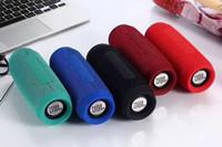 Wholesale Mini Flip Phones - 2017 New J3 Flip speaker arrival Mini cloth art Portable Wireless Subwoofer Bluetooth Speaker support for bluetooth hands free call FM Raido