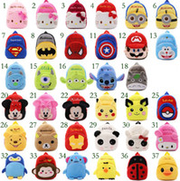 Wholesale Ironman Backpack - Cartoon The Avengers Poke GO Super Mario Ironman plush Backpacks Kids Early Childhood bags Children Backpacks 1T-3T Christmas gift MD052
