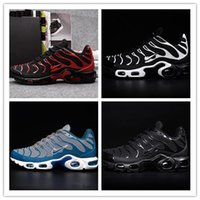 Wholesale Basketball Shoes Tn - 2017 Men's AIR Tn shoes leather TN kpu running shoes breathable shoes classic color size 40-46