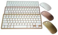manzanas inglesas al por mayor-Inglés 2.4G Combinaciones de mouse inalámbricas ultra finas con teclado de chocolate para Apple Style Mac Pc Ventana XP / 7/8/10 Smart Tv Box