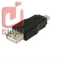 Wholesale Ipad Mini Converter Cable - Free Shippping Black USB A to Mini B Adapter Converter 5pin USB cable For MP3 MP4 Wholesale 1000pcs lot