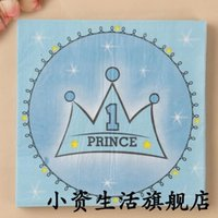 decoraciones de la fiesta de cumpleaños del príncipe al por mayor-Al por mayor- 3 paquetes 60pcs Blue Prince servilleta de papel 100% de madera virginal del tejido para los niños fiesta de cumpleaños del bebé decoración de la ducha de bebé