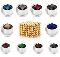 Multicolor sports presents - 216pcs mm Buck Balls Magic Cube Magnetic Balls Fidget Cube Puzzle Cube with metal box Adult Relax de stress Game Toys Birthday Present