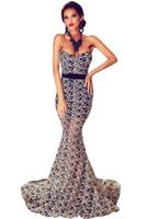Wholesale Spandex Valentine - Designer Elegant Floor-Length Dresses to Party Valentine Strapless Mermaid Ball Gowns Vestido de Noche Formal LC60891 17410