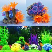 Wholesale Plastic Coral Fish - Free shipping Artificial Resin Coral for Aquarium Fish Tank Decoration Underwater Ornament New