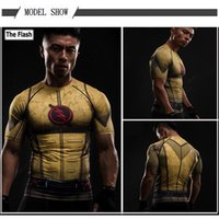 Wholesale Quick Shipping Dress - DHL Free Shipping Wholesale Luxury Brand Compression Dress 3D Print Men's Short Sleeve T-Shirt US Captain Man Wei Animation Role Play S-4XL