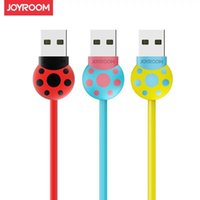 20 pz / lotto Joyroom Marca 5V 2.4A Beetle Style Cavo Micro USB per Samsung Huawei Android fulmine Caricabatterie veloce Cavi dati USB Phone