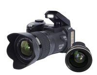 Wholesale Digital Electronic Frames Video - PROTAX D7100 Digital Camera 33 Million Pixel Auto Focus Camera Professional SLR Video Camera 24X Optical Zoom HD LED Headlamps 3 lens