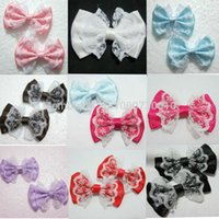 Atacado 10pieces / lot 55mm * 35mm organza cetim fita Bow Appliques Craft DIY casamento A01