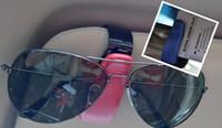 pare-soleil à clip automatique achat en gros de-Auto Auto Sun Visor Glasses Lunettes de soleil Clip Card Ticket Titulaire Pen Case Case Universal Accessoires couleur option