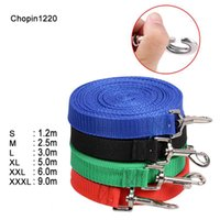 5Pcs / Lot Dog Pet Lead Leash для собак Кошки Red Green Blue Nylon Walk Dog Leash Выбираемый размер Outdoor Security Training Dog Harness