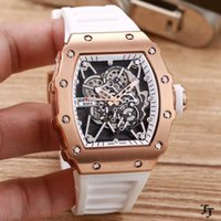 Wholesale Blue Minerals - Top Brand Men's Watch RM 35-01 RAFAEL NADAL Mineral Tempered Glass Automatic Mechanical Rubber Strap