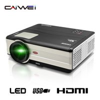 Wholesale Cheap Portable Wifi - Wholesale- CAIWEI 1280*800 Home Movie theater Portable LCD LED Projector Android WiFi Full HD 1080P Digital HDMI TV Cheap Video Proyector