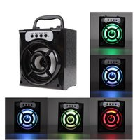 Wholesale Products Mini Sd - 2017 Newest Product LED Speaker Mini Portable Wireless Bluetooth Square Speaker Support FM Radio LED Shinning TF Micro SD Card Music Playing