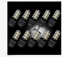 100PCS 3157 Bianco 18SMD 5050 Reverse Freno / Stop / girare la coda posteriore Light Up LED lampadina prezzo all'ingrosso