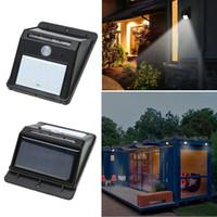 Wholesale Solar Motion Sensor Detector - Solar Light Waterproof Outdoor 8LED Light Solar Energy Powered Motion Sensor Detector Activated Auto On Off Lamp