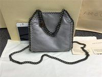 Wholesale Multi Color Pictures - 16SS Grey falabella shaggy deer real picture luxury CHAIN BAG Fashion classical luxury lady crossbody shoulder steel chain bag