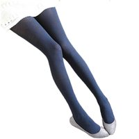 Wholesale Girl Fashion Tights Long Socks - Wholesale- Fashion Warm 2016 Winter Girls Tights Long Stocking Retro Totem Velvet Strong Elastic Women Pantyhose Tattoo Printed Thick Tight