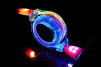 1 Mètre Tangle Coloré Sans Rétractable LED Lampe Lumière Micro USB Chargeur Sync Data Cable Chargeur Extension Cordon pour Galaxy S6 S3 S4