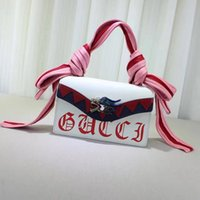 Wholesale Led Christmas Ribbon - The new pink ribbon strap bag leading graffiti girls dream lock satchel zipper sandwich bag