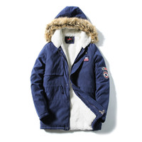 Wholesale White Slim Fit Parka - Wholesale- M-5XL 2016 Hooded Fur Winter Casual Thermal Parka Men Slim Fit Winter Jacket Men Winter Coat Men Parka Homme