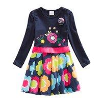 Wholesale Nova Kid Wear Girl Flower - Retail 2017 Nova Kid Dress Baby Girl Princess Wedding Party Flower Tutu Dress Infant Lace Tutu Children Clothes Wear LH5868 MIX
