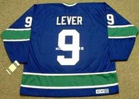 Wholesale Cheap Levers - Cheap custom retro DON LEVER Vancouver Canucks 1974 CCM Vintage Jerseys Throwback Jerseys Throwback Mens stitched Hockey Jersey