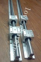 SBR12-750mm 12MM LINEAR SLIDE GUIA SHAFT 2 RAIL + 4 SBR12UU Bloque de rodamiento CNC set