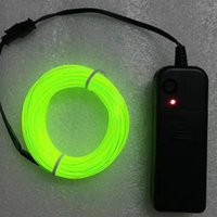 Wholesale El Neon Meter - 2.3mm Diameter 3 Meter EL wire Glowing 10 Color Choice LED Strip neon light Flexible Wire For Craft Model ,bag ,Decoration