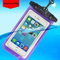 Wholesale Waterproof Promotion Case - 2016 Promotion Clear Waterproof Pouch Bag Dry Case Cover For iphone7 iphone7 plus S8 case S8 edge case Free shipping