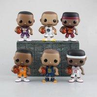 Wholesale Marvel Gifts - Funko POP Gxhmy Marvel Thrones basketball star Bryant LeBron Curry Owen Lillard Wall Figurines Toy gift