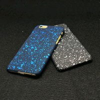Wholesale Ice Blue Iphone Case - 80pcs new 3D cover 3D star ultra-thin ice starry sky phone hard shell for iPhone 5 5s SE 6 6S