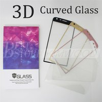 Wholesale Cam Cover - LG G5 K7 K10 X Cam Full Cover 3D Curved Side Tempered Glass Screen Protector 0.2MM with colorful Wooden Box