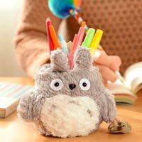 Wholesale Doll Rack - Wholesale- Super Kawaii MY Neighbor TOTORO Plush Cover DOLL ; Phone Stand Holder Pouch Case RACK DOLL & School Desk Pen Pencil Holder BOX