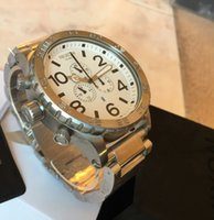 Wholesale Silver Water Proof Watch - 100% New mens 51-30 A083-100 Silver White Chrono Stainless-Steel Quartz Watch 51mm A083100 water proof wirstwatch + original box