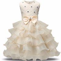 robe de mariée style princesse pour enfant achat en gros de-2017 Mode Filles De Mariage Princesse Robe D'hiver Formelle Robe Balle Fleur Enfants Vêtements Enfants Vêtements Partie Fille Robes