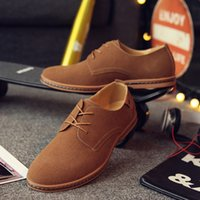 Wholesale Mens Suede Oxfords - 2017 oxford shoes for men moccasin hommes mariage heren schoenen italian genuine leather suede formal shoes mens pointed toe dress shoes man