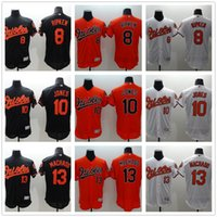 Wholesale Adam Jones Jersey - Men's New Flexbase Baltimore Orioles Jersey #8 Cal Ripken #10 Adam Jones #13 Manny Machado Stitched Baseball Flexbase Jerseys Drop Shipping