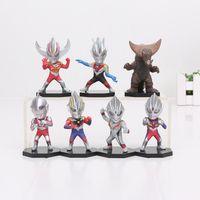 Wholesale Ultraman Figures - 7pcs set 7.5cm Cartoon Anime Superman Ultraman Action Figures PVC Ultraman Figures Model Toys Kids TOYS