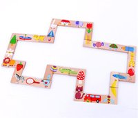 Wholesale Animal Dominoes - Kid's Montessori Wooden Puzzle Toy Set 28pcs Animal Domino Early Educational Intelligence Development Toys Gift for Kid