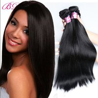 Wholesale Human Hair Extensions Processed - BD Silky Straight Human Hair Extensions Virgin Hair Cheaper Body Wave Loose Wave Straight Human Hair Extensions