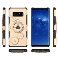 Wholesale Arm Armor - For iphone 7 plus 6 plus New Gear Armor Galaxy S8 Plus TPU+PC Stand Cases Holder Arm band Outdoor Sport Phone Case D
