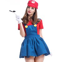 Wholesale Wholesale Japanese Fashion Clothing - Mario Cosplay Fashion Stage Performance Clothing Button Decoration Party Unifrom Anime Characters Cosplay Color Splicing Game Costumes