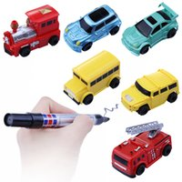 Wholesale Vehicles Gift Boxes - hot sale Toy Cars electric Magic Inductive Fangle Car tank Vehicle following the line you draw Gift Box Packing Free Ship
