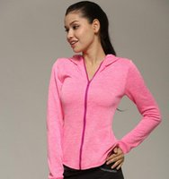 Wholesale Dry Fit Shirts Women - Womens Sports Jacket Quick Dry Professional Fit Long Sleeve Zipper Shirt for Yoga Running Workout Outdoor Exercise and Training