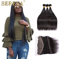 Wholesale Swiss Lace Frontals - 100% Malaysian Human Hair Bleached Knots Lace Frontals Closure,13x4 Swiss Lace Unprocessed Hair Frontal Closure With Baby Hair And 3 Bundles