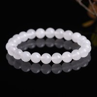 Wholesale White Chalcedony Beads - Authentic Chalcedony Beads Bracelets 8MM 7 Colors,Wedding,Brithday,Anniversary,Graduation,Gifts,Jewelry,Gemstone,Fantasy,Nature,Gift
