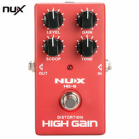 Wholesale nux pedals - NUX HG-6 Distortion High Gain Effect Electric Guitar Effect Pedal True Bypass Durable Guitar Parts & Accessories Promotion
