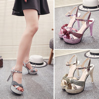2017summer Frauen Luxus Glitter Ultra High Heel Schuhe Frau Elegant Sandalen Thin High Heel Plattform Pumpe Sexy Damen Silber Gold